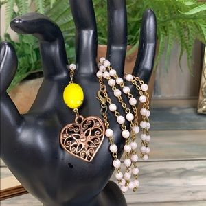 Adorned Crown convertible rosary heart necklace